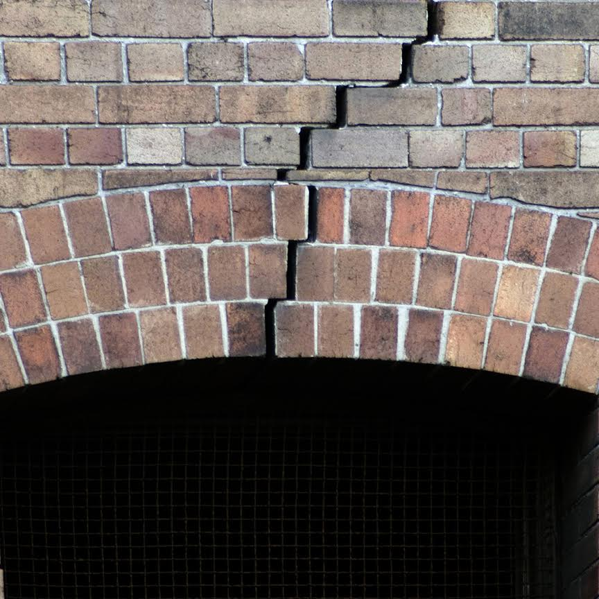 cracked fireplace